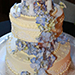 Wedding Cake Decorated with Blossoms