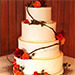Wedding Cake Adorned with Roses