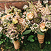 Roses, Astilbe and Herbs for a Springtime Wedding